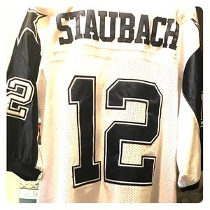 best service f917f 2a981 Roger Staubach Dallas Cowboys Mitchell Ness Jersey
